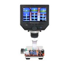 """Цифровой видео микроскоп 600X4,"""" 3.6MP светодиодный микроскоп для обслуживания мобильных телефонов QC/Промышленный осмотр+ подставка"""