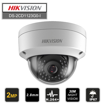 цена на Hikvision IP Camera DS-2CD1121-I & DS-2CD1123G0-I CCTV Camera replace DS-2CD2125F-IS 2MP Mini Dome Outdoor camera POE IP67