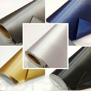 Image 2 - 50cm*152cm Car Styling Matt Brushed Aluminum Car Wrap Vinyl Film Sheet  Motorcycle Automobiles Car Stickers Decal