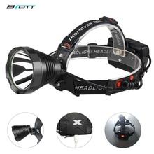 Lâmpada de cabeça led t40 ou t20 uso luz 18650 bateria carregamento usb caça ao ar livre trabalho caverna bicicleta à prova dwaterproof água led farol
