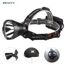 LED ヘッドランプ T40 または T20 ライト使用 18650 バッテリー USB 充電屋外狩猟洞窟防水自転車 led ヘッドライト