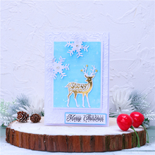 InLoveArts Christmas Dies Deer Metal Cutting Dies New 2020 for Card Making Scrapbooking Embossing Cuts Stencil Craft Dies inlovearts christmas dies tree metal cutting dies new 2019 for card making scrapbooking embossing album craft frame die cuts