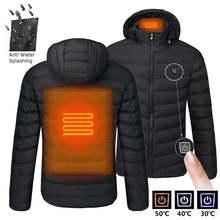 2020 nwe мужские зимние теплые куртки с подогревом usb Смарт