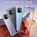 Глобальная версия Новый M11 ультра 5G сотовый телефон 16 + 512 ГБ Andriod11 6800 мА/ч, большая Батарея 32 + 50 Мп Qualcomm888 Face ID смартфонов