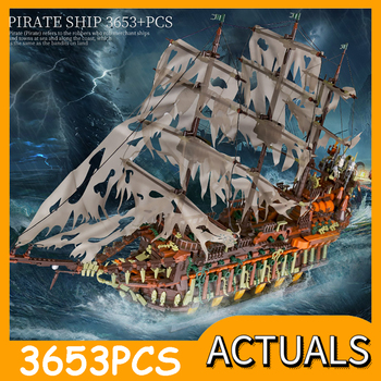 Mould King MOC Movie series Compatible With 16016 Flying Dutchman Ship Building Blocks Bricks Assembly Toys Kids Christmas Gifts image