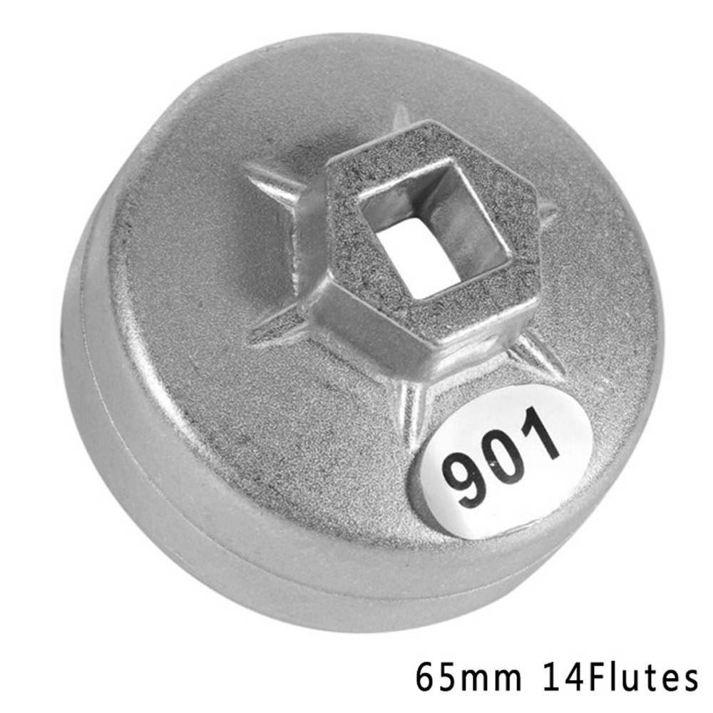 Universal Silver 64MM 14Flute Oil Filter Cap Wrench Tool For Toyota Lexus