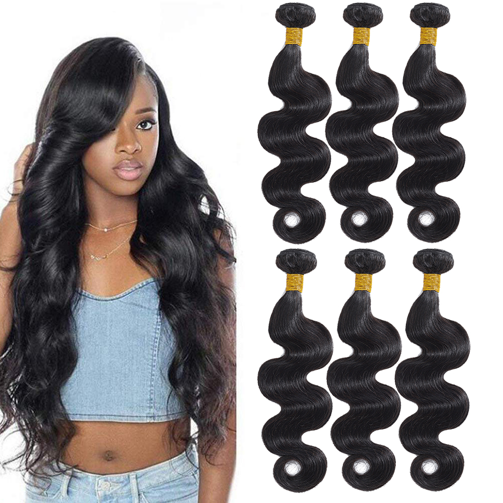 tissage Brazilian Hair Weave Bundles Body Wave Hair 3 Bundles Human Hair Bundles natural hair extension Can Dyed cheveux humain