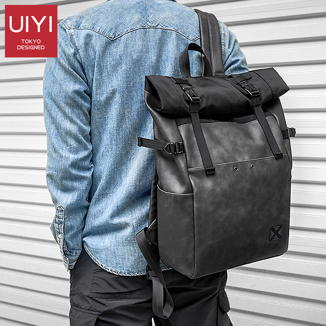 Hommes sac à dos PVC école sac à dos sac mode étanche voyage sacs décontracté en cuir livre sac mâle gris harajuku sac sac à main