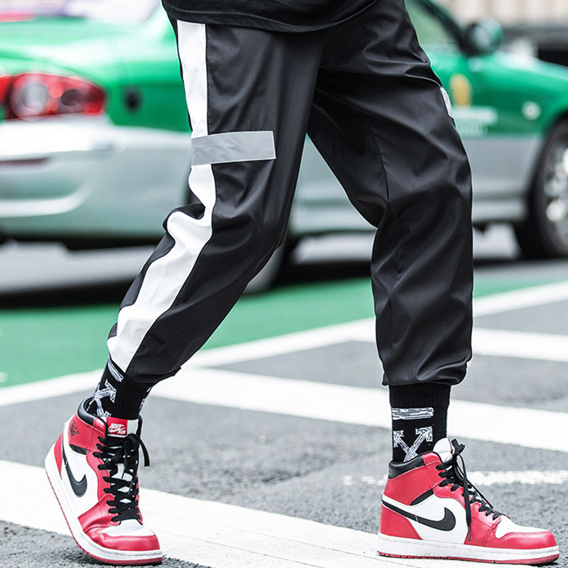 2018 Xi Ha Ku Men's Summer Korean-style Loose-Fit Street Casual Beam Leg Capri Pants INS Super Fire Pants