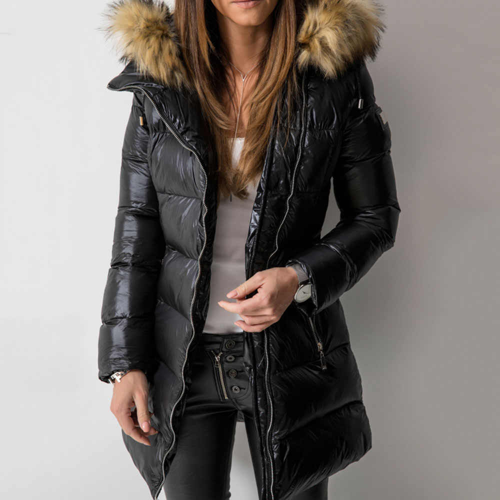 Coat Women Winter Parka Coats 2019 Casual Warm Female Outwear Overcoats Long Sleeve Zipper Cotton Padded Female Coats Tops Parka