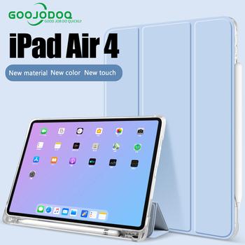 Dla iPad Air 4 Case 10 9 iPad Mini4 5 przezroczyste etui do ipada 10 2 10 5 iPad 11 Case iPad 9 7 2017 2018 iPad Air Air 2 tanie i dobre opinie GOOJODOQ Składany folio case 10 8 CN (pochodzenie) Stałe Dla apple ipad iPad Air 2 Moda Odporny na wstrząsy Odporność na spadek