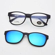 Glasses Frame Sand black oval For women Match Magnet Clip Myopia Polarized Sunglasses