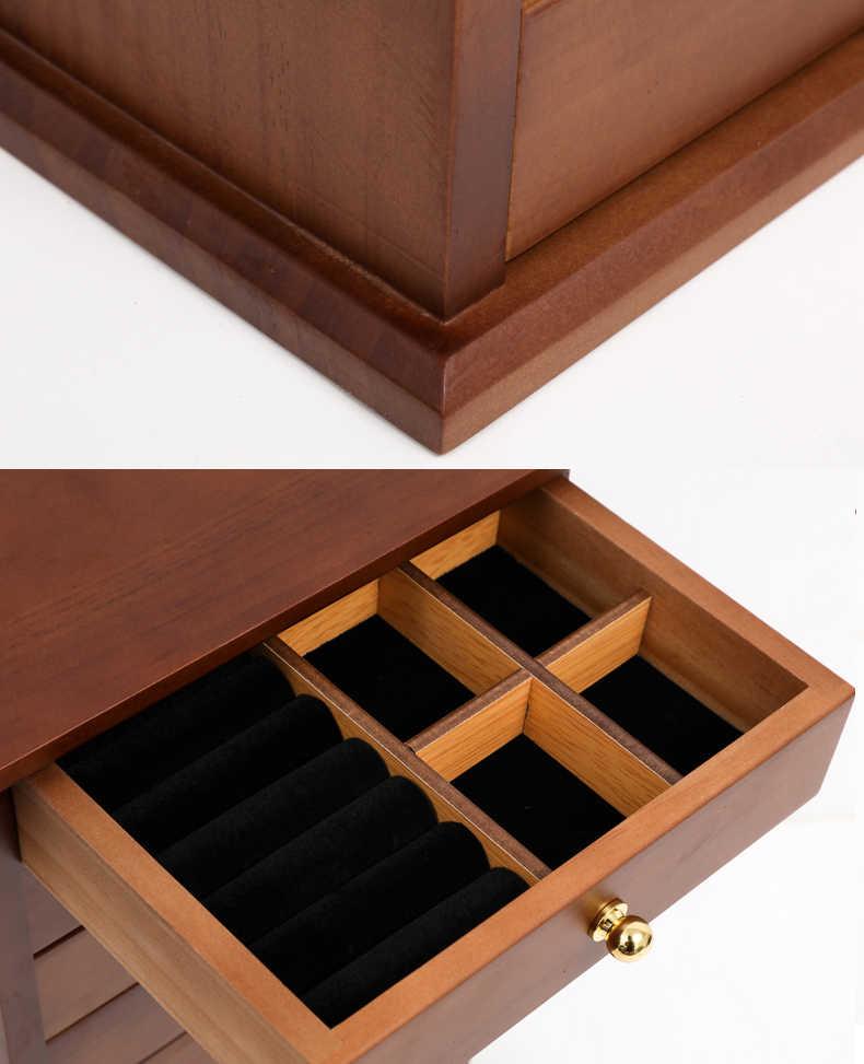 أوروبا Luxury10 طبقة الخشب صندوق مجوهرات الأميرة موضة سوبر كبير صندوق مجوهرات اكسسوارات صندوق تخزين هدية الزفاف صديقة