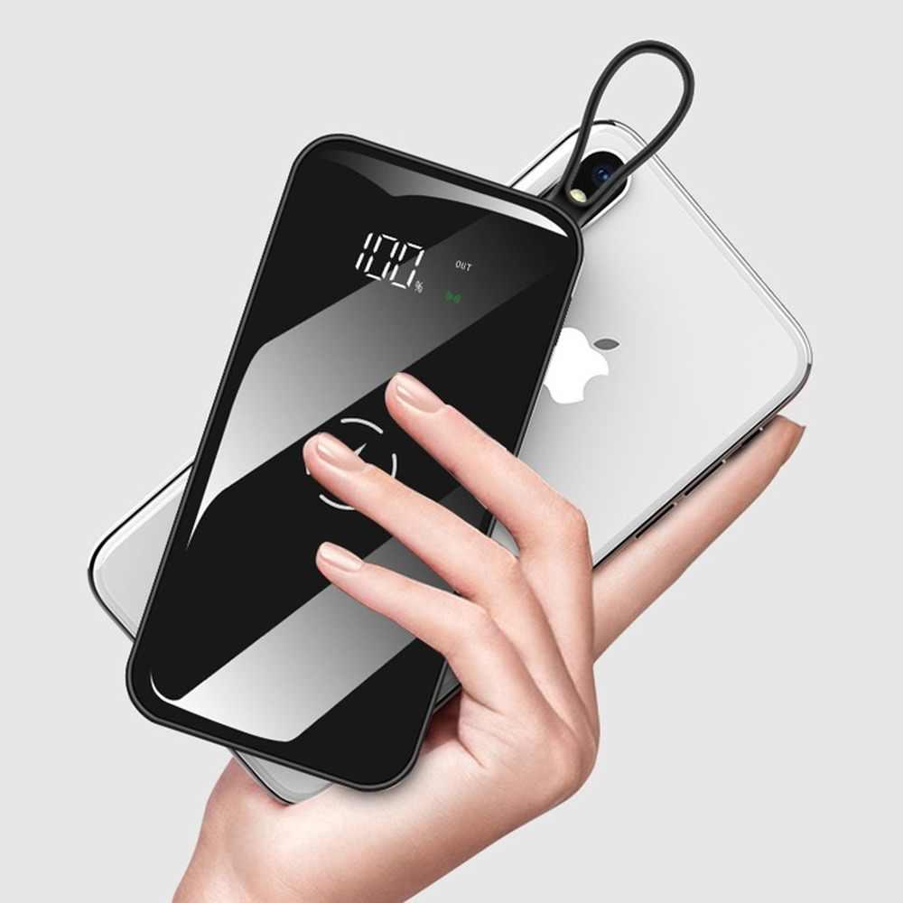 Cargador inalámbrico de batería externa de 30000mah para Xiaomi Mi 9 8, cargador portátil de batería qi para iPhone con USB y cargador inalámbrico