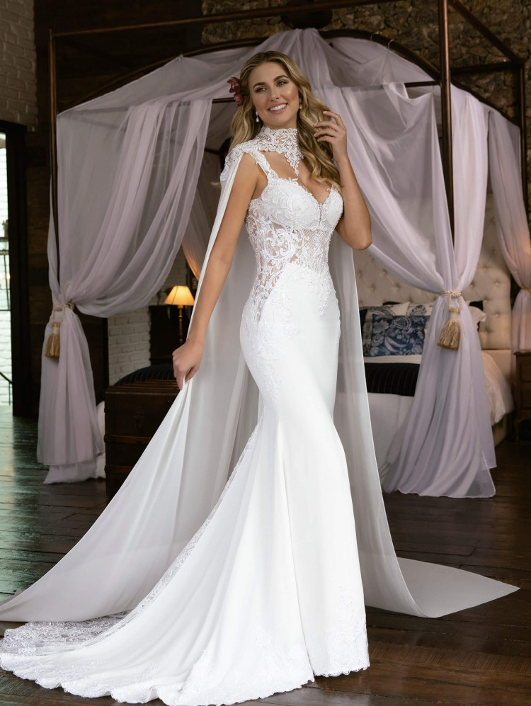 New-Arabic-Wedding-Dresses-with-Wrap-V-Neck-Lace-Appliques-Mermaid-Wedding-Dress-Backless-Sweep-Train (1)