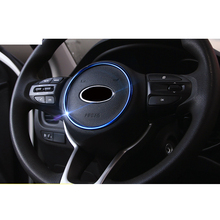Lsrtw2017 Abs Car Steering Wheel Ring Trim for Kia Rio X Line Kx Cross K2 Rio 2017 2018 2019 2020 Interior Mouldings Accessories 1 set car stying chrome for kia rio 4 k2 2017 2018 air outlet circle cover interior mouldings decoration frame