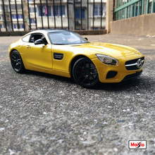 цена на Maisto 1:18 Scale Alloy Racing Car Diecast Model Car Mercedes Benz AMG GT Sports Car Metal Toy Car For kids toy Gift Collectio
