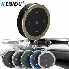 Kebidu سماعة لاسلكية تعمل بالبلوتوث وسائل الإعلام عجلة القيادة التحكم عن بعد MP3 الموسيقى اللعب ل أندرويد IOS الهاتف الذكي التحكم سيارة عدة التصميم