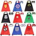 Накидки с маской супергероя для мальчиков и девочек, вечерние костюмы на Хэллоуин, аниме, косплей