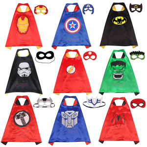 Superhero peleryny z maską chłopcy dziewczęta urodziny Party Favor element ubioru kostiumy na Halloween Anime Cosplay