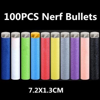 Dla Nerf Bullets 100 sztuk 7 2cm Nerf Bullet strzałki z możliwością napełnienia dla Nerf akcesoria taktyczne EVA miękkie spiralne Bullet Hollow głowy dzieci tanie i dobre opinie Nerf Accessories do not shoot at animal Nerf Bullets 100PCS Soft Spiral Bullet