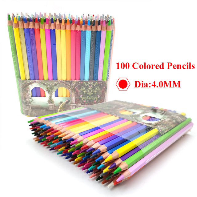 100 Colored Pencil Fine Art Lapis de cor 72 cores Profissional Colored Pencils 72 Lapis Artist Crayons Sketch Pencils Wholesale
