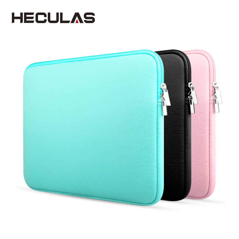 HECULAS Laptop Liner Sleeve Bag Pouch For Notebook 11.6/13.3/15.4 Inch Soft Sleeve Case For Macbook Air Pro Retina
