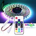 WS2812B WS2812 30/60/74/96/144Leds Einzeln Adressierbaren RGB Led Pixel Streifen Licht Mit DIY 17keys RF Remote Controller DC5V