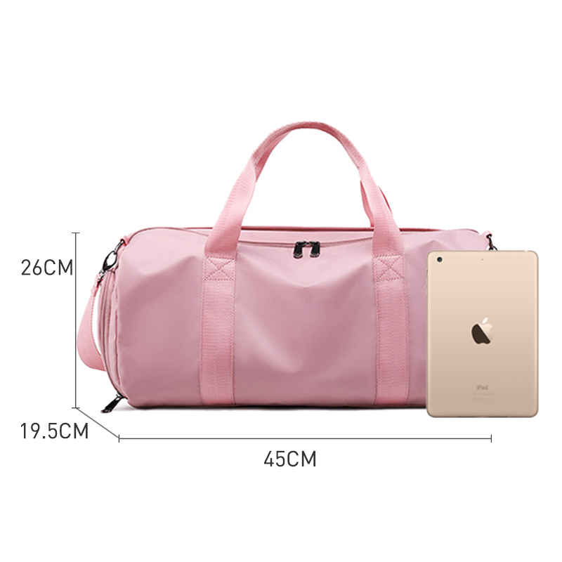 Women Yoga Gym Travelling Bag Nylon Handbags For Shoes Ladies Travel Training Bags Dry And Wet Sport Casual Tote Handbag in Top Handle Bags from Luggage Bags