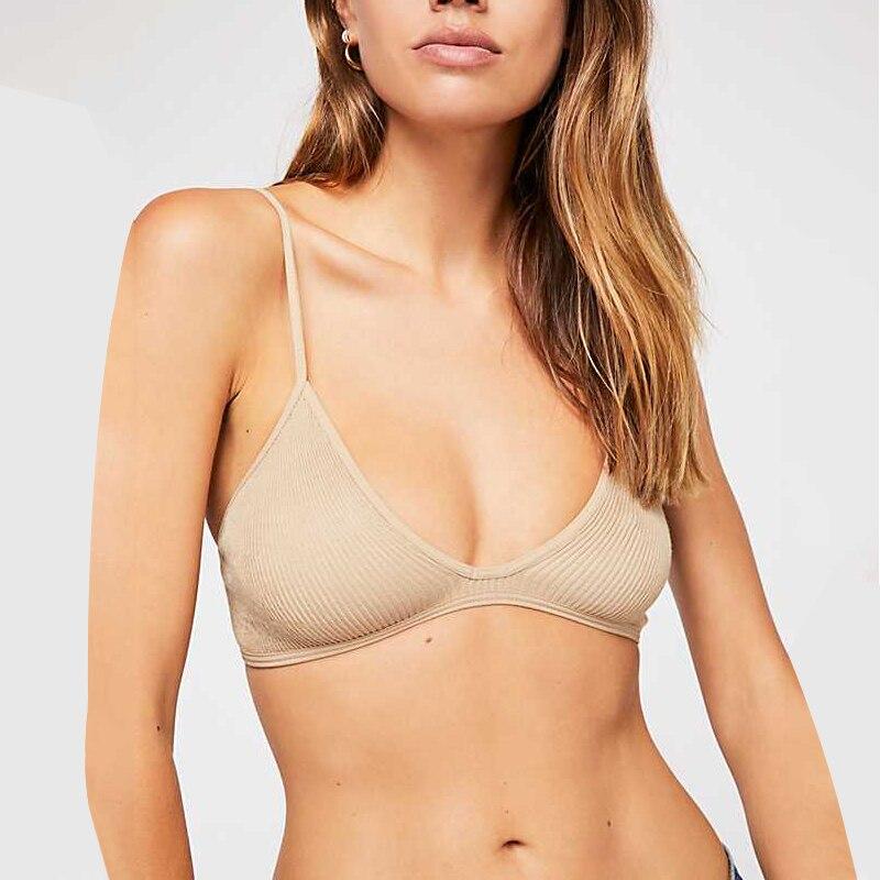 New Bra For Women Round-Neck Brassiere Solid Lingerie Comfortable Women Bralette Soft Underwear Breathable Large Size Bras