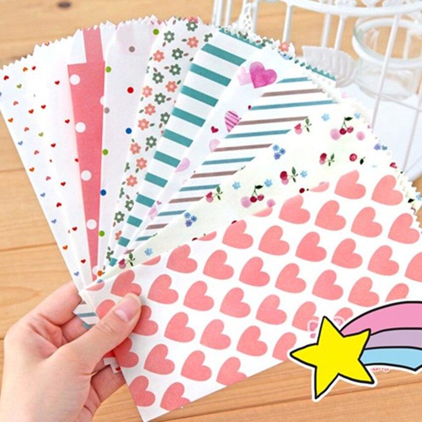 10 шт./партия, кавайный бумажный конверт, милый, свежий стиль, Свадебный конверт для карт, скрапбукинг, подарок, бесплатная доставка
