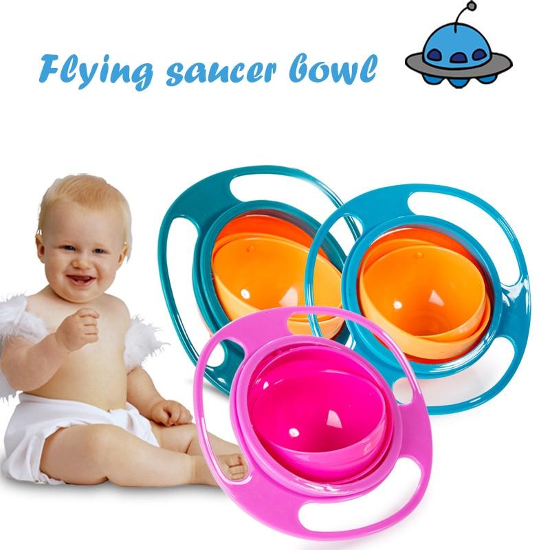 Imebaby360 ° Rotational Balance Anti-spill Children Bowl Dish-shaped Children Tableware Food Grade PP Material Baby Board