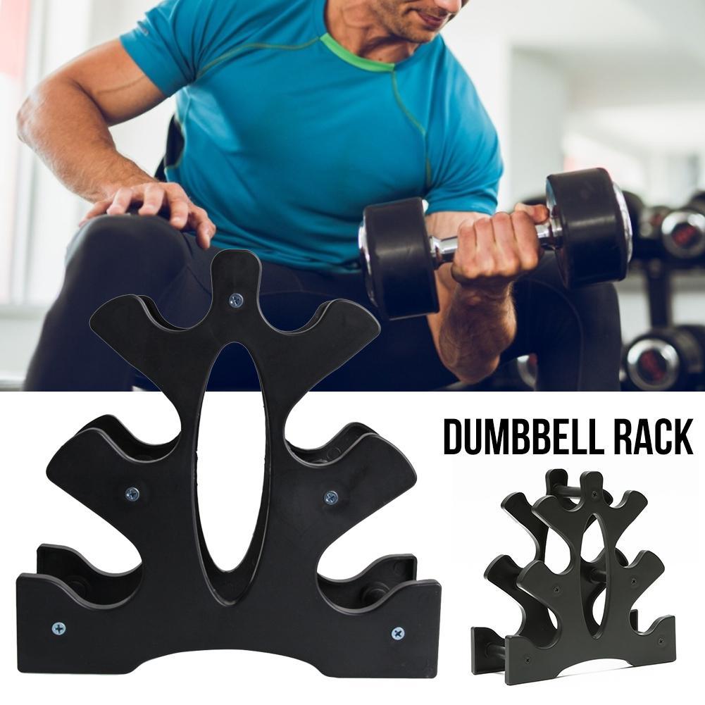 Weight Lifting Barbell 3-Tier Dumbbell Tree//Dumbbell Rack Stand Holder Bracket R