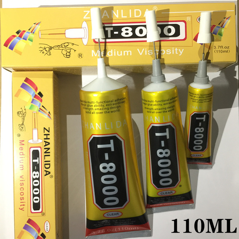 <font><b>110ml</b></font> <font><b>T8000</b></font> industrial adhesive jewelry process water drill and nail glue <font><b>T8000</b></font> DIY mobile phone frame fixed screen glass glue image
