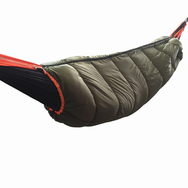 Portable Winter Hammock Warm Windproof Sleeping Bag Packable Sleeping Bag Quilt For Outdoor  Hiking Camping Underquilt