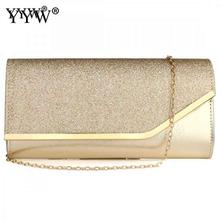 Sequined Envelope Clutch Bags For Women 2020 Fashion Gold Purses And Handbags With Chain Shoulder Bags Wedding Party Clutches