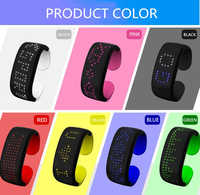 Fashion Wristband 140 Color LED Beads For Sport Party EDM Shows  25 Hours Battery Life LED Display Bracelet Wristbands