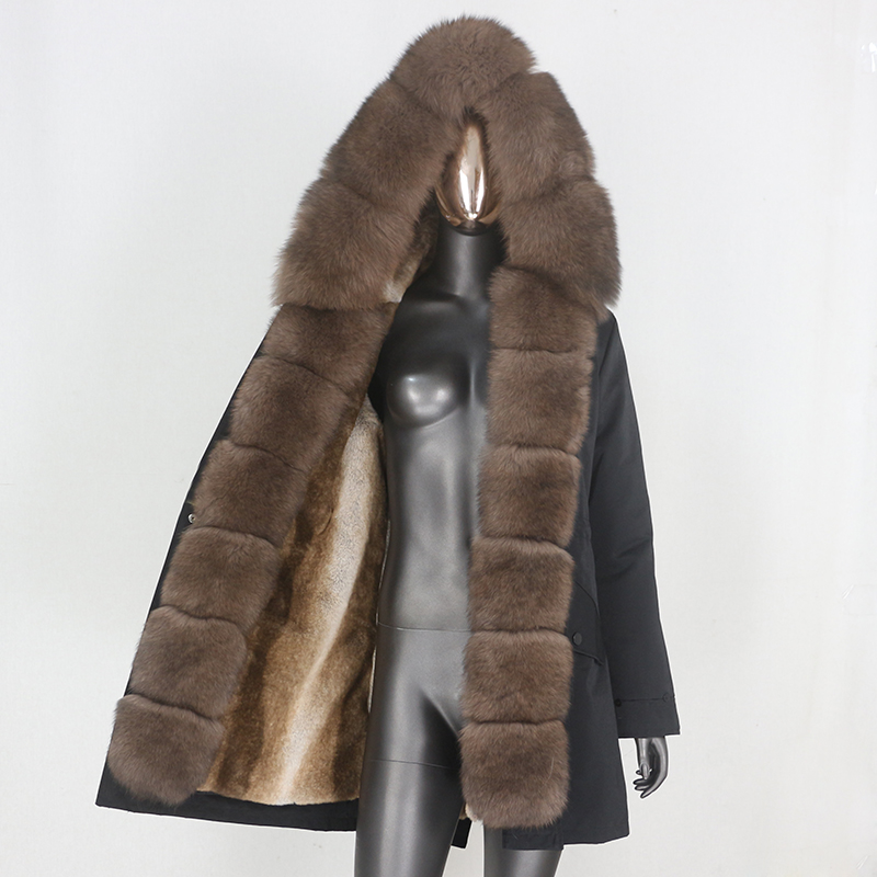 H469cd8cbab0847d5b5e08e0ea8d81f831 CXFS 2021 New Long Waterproof Parka Winter Jacket Women Real Fur Coat Natural Raccoon Fur Hood Thick Warm Streetwear Removable