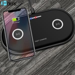 DCAE Wireless-Charger Station-Pad Airpods Fast-Charging For Samsung iPhone 11 20W Dual
