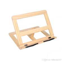Regulowany przenośny drewniany stojak na książki drewniany stojak na książki Laptop Tablet Study Cook przepis na książki stojaki na biurko organizery szuflad tanie tanio CN (pochodzenie)