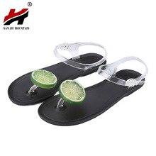 Women Shoes Sandalias Mujer Fruit Flip Flops Jelly Sandals