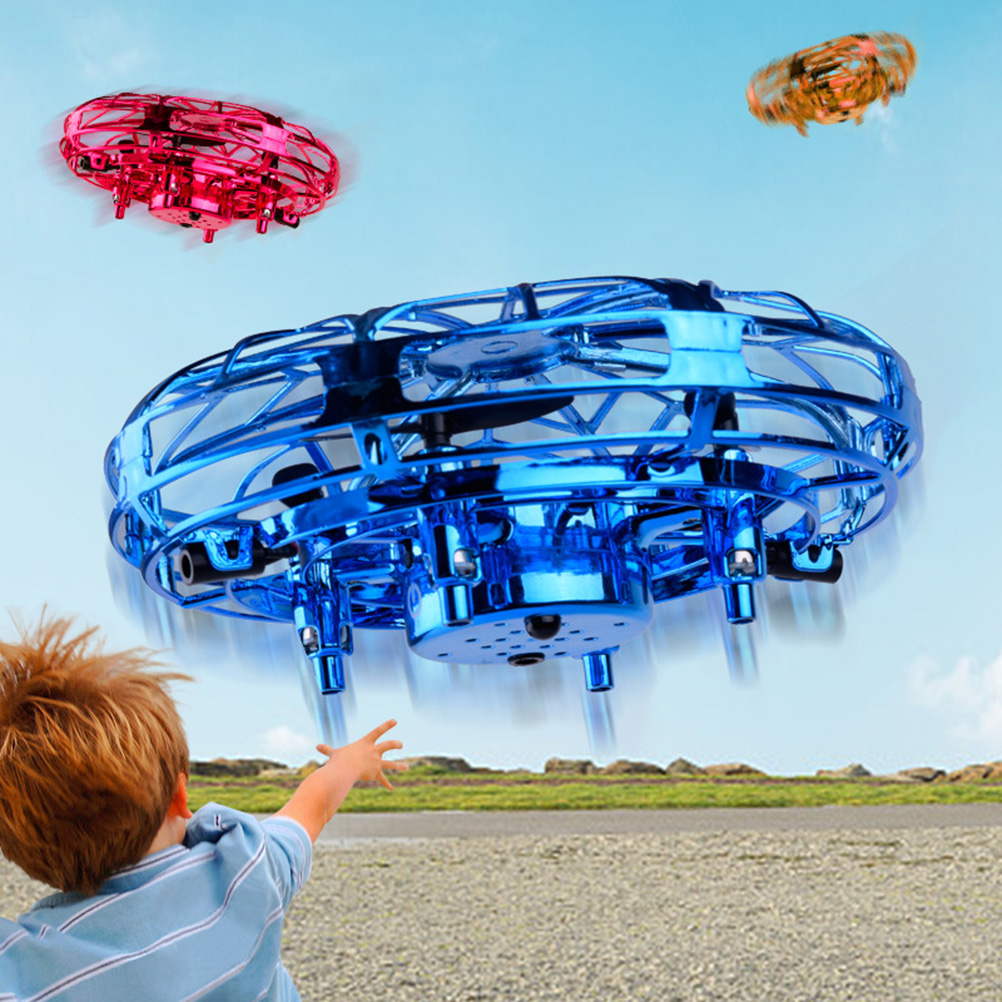 UFO Ball Flying Aircraft Anti-collision Hand UFO Helicopter Mini Drone 360°Rotation Hand Controlled Mini Drone For Boy And Girl
