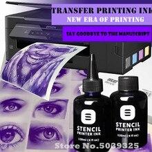Fedex frete grátis tatuagem estêncil impressora de tinta para impressora a jato de tinta (15 peças trancing papel livre) tinta jet estêncil