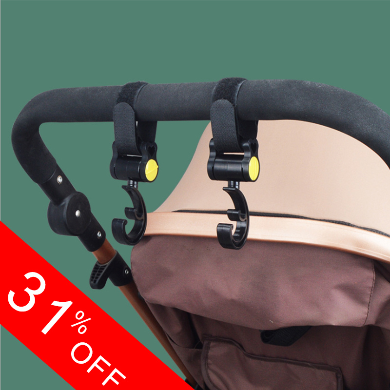Baby Stroller Accessories For Wheelchairs Baby Cart Hooks Car Bag Rotating 360 Degree Stroller Hook Accessory Drop Shipping