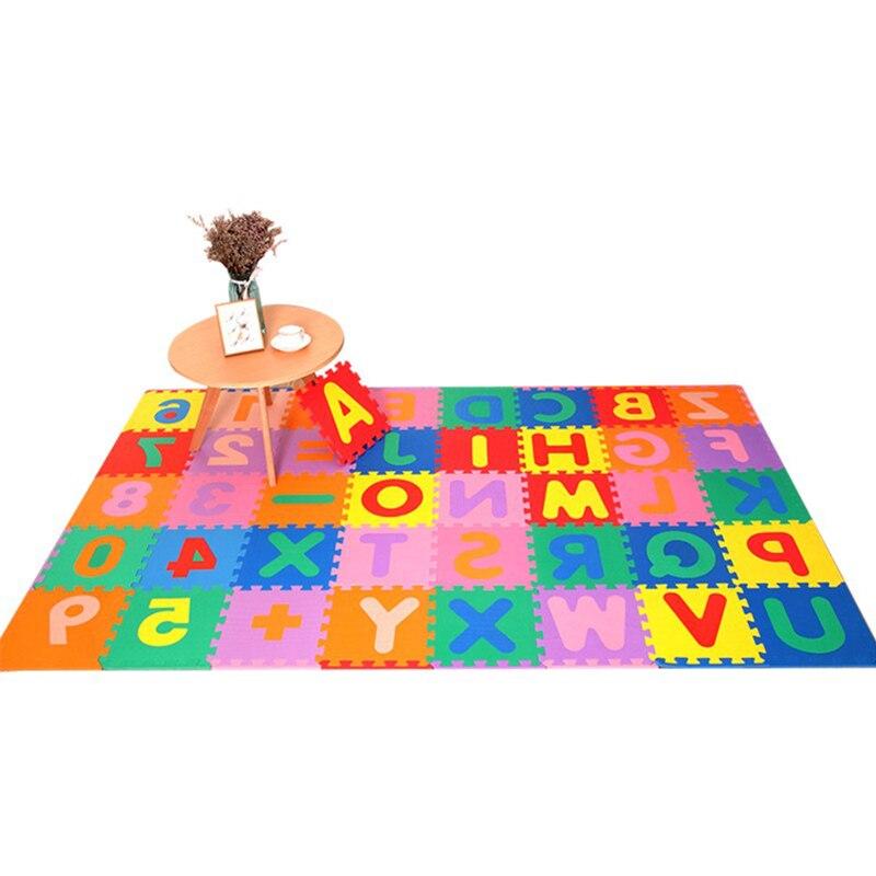 26 pièces EVA Puzzle bébé jouets mousse Alphabet jouer tapis plancher enfants tapis tapis pour enfants 26 lettres sécurité enfants jouets jouer tapis