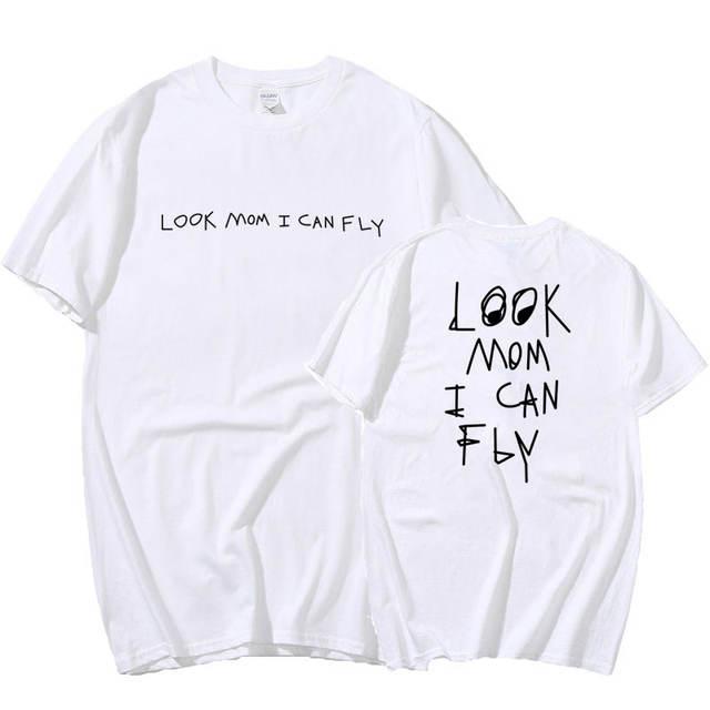 TRAVIS SCOTT LOOK MOM I CAN FLY THEMED T-SHIRT (20 VARIAN)