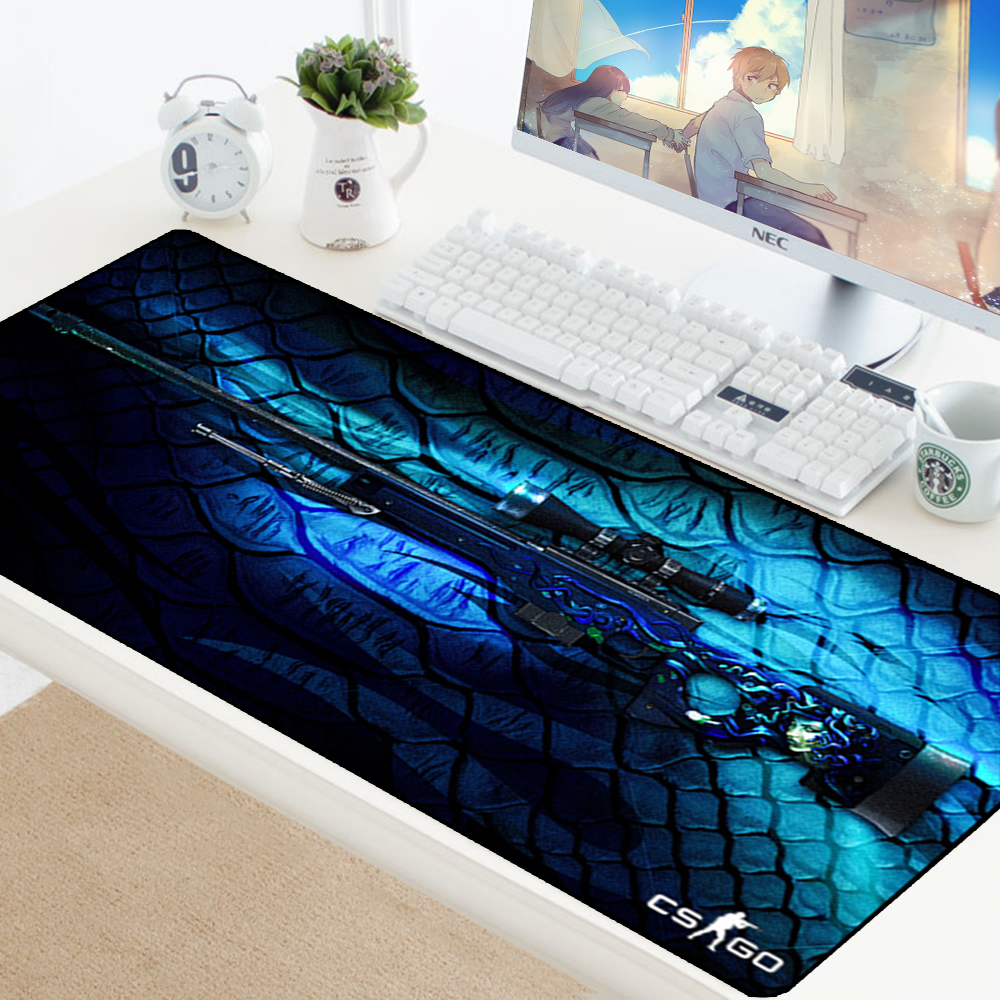 Large Gaming Mouse Pad CSGO Gamer Locking Edge Rubber Keyboard Mice Mouse PC Mat Gaming Grande Desk CS GO Mousepad For LOL Dota2