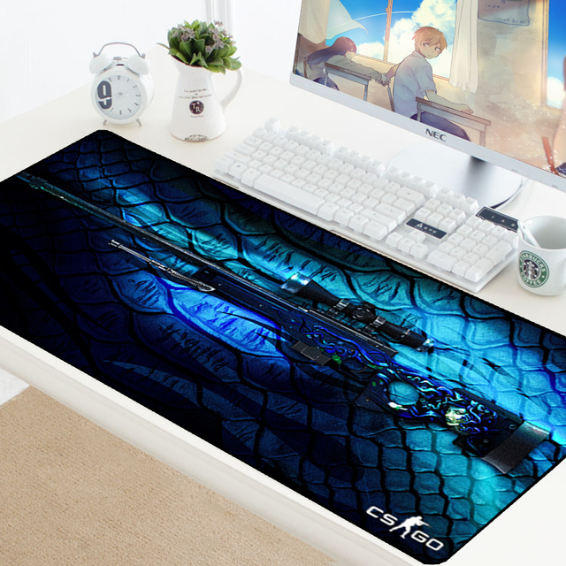 Large Gaming Mouse Pad CSGO Gamer Locking Edge Rubber Keyboard Mice Mouse PC Mat Gaming Grande Desk CS GO Mousepad for LOL Dota2