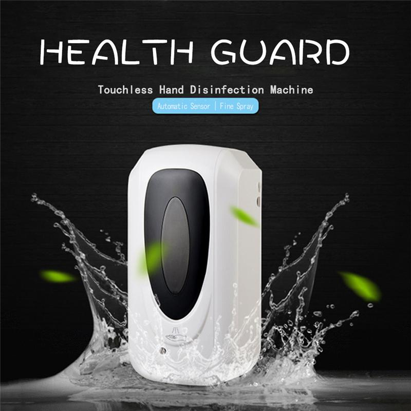 Induction Touchless Hand Disinfection Machine Wall-mounted Alcohol Mist Spray Cleaner Hand Hygiene Automatic Sensor