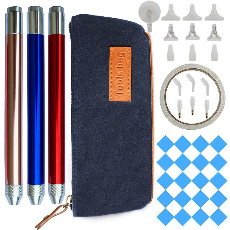 5d Diamond Painting Drill Pens Diamond Painting Accessories Tools With Storage Bag Multi-point Drill Pen Tips Nail Diy Arts